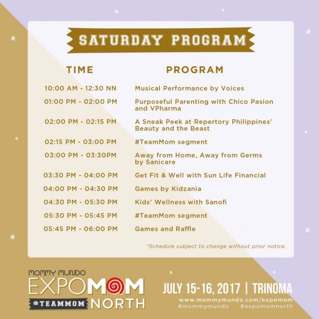 Event Map and Program 2017 | EXPO MOM