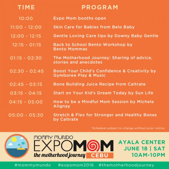 expomom 2016 cebu program
