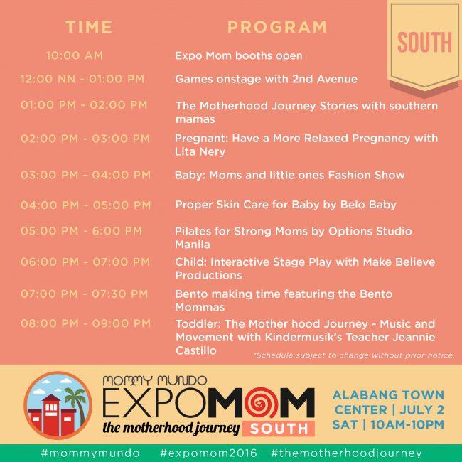 expomom 2016 south program