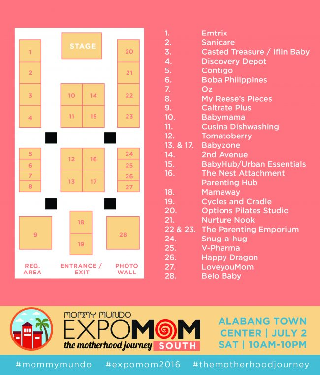 expomom 2016 south event map